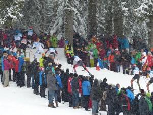 Zahlreiche Zuschauer beim Weltcup in Schonach