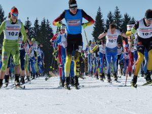 Start der Junioren dei der DM Skilanglauf 2016